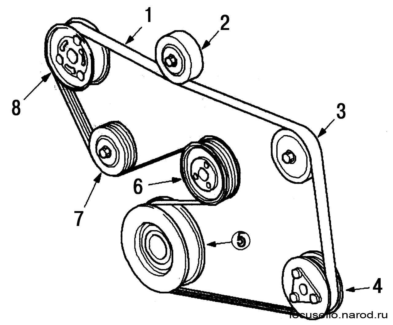 Схема установки приводного ремня фото 40