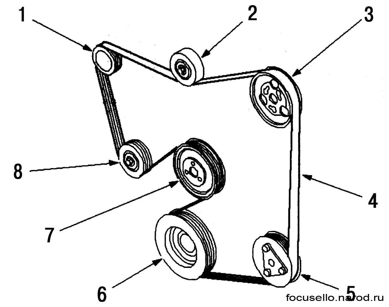 Схема установки приводного ремня фото 509
