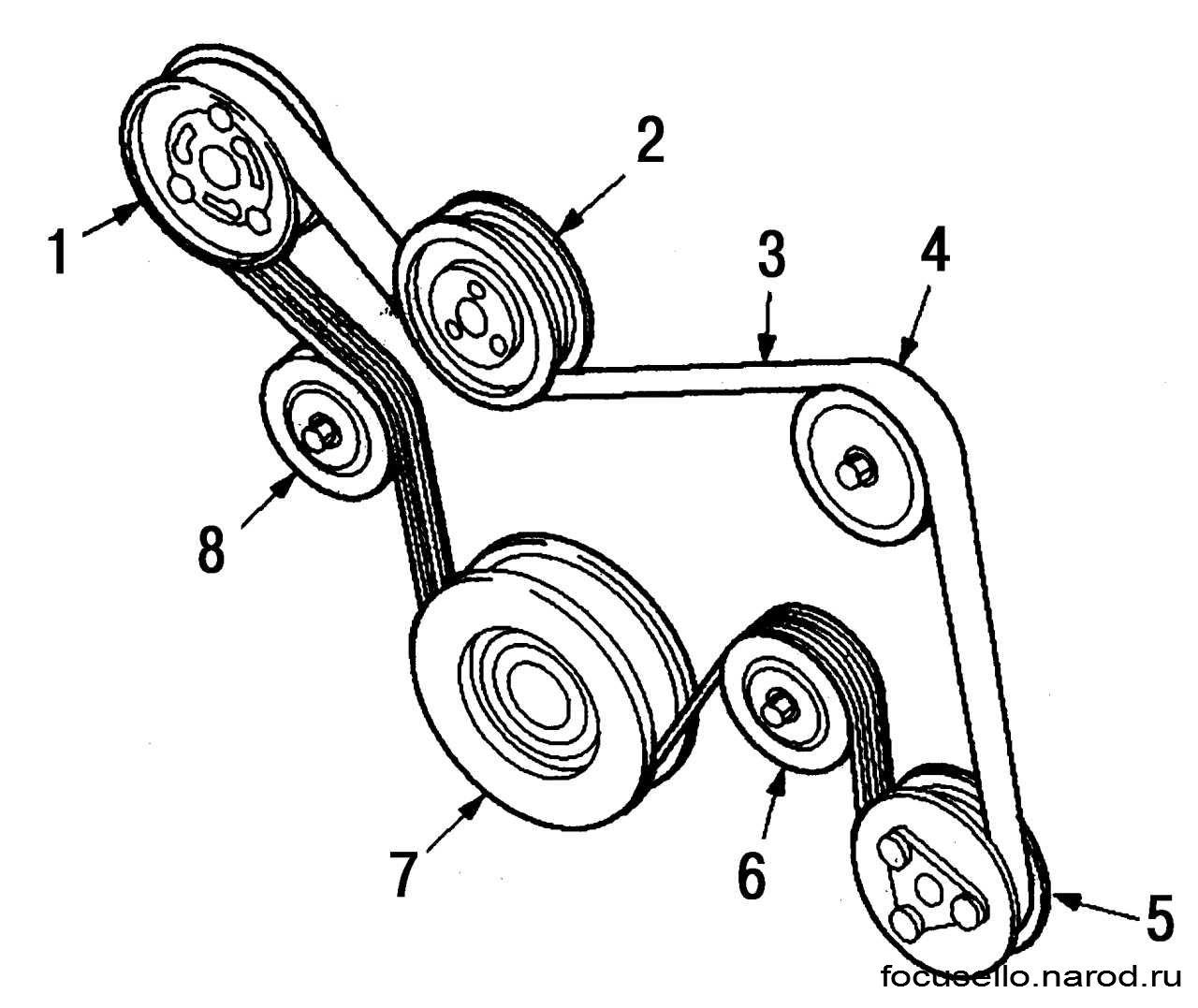Схема установки приводного ремня фото 604
