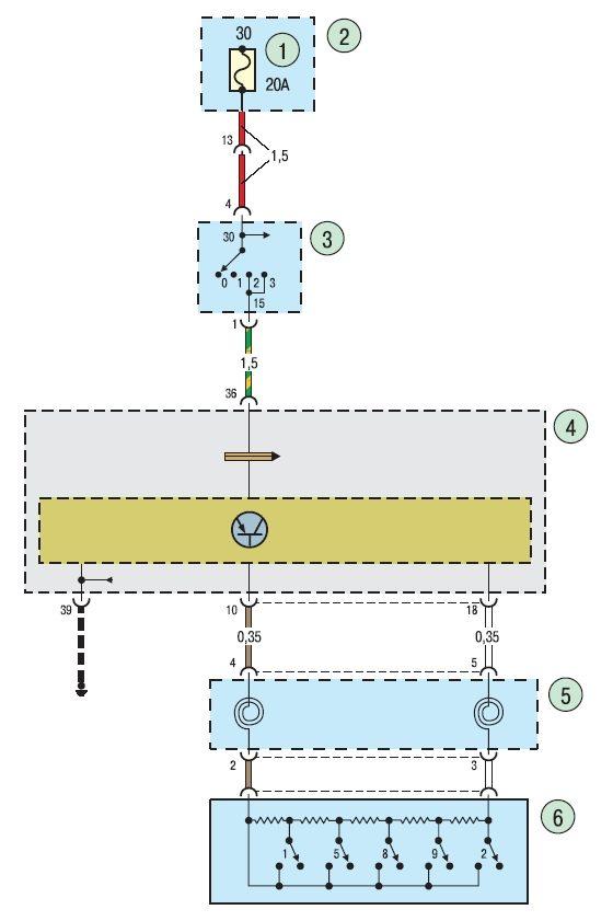 Электросхема контроля скорости
