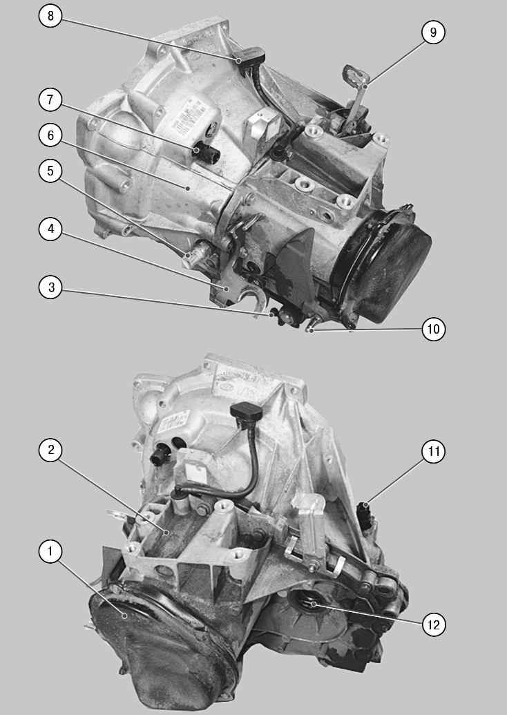 2 – картер коробки передач